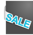 left side sign sale vector image vector image