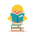 Little Happy Girl Read Fairy Tail Book Education vector image vector image