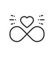love line infinite heart icon happy valentine day vector image vector image