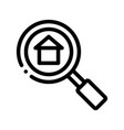 magnifier search estate thin line icon vector image vector image