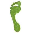 man footprint vector image