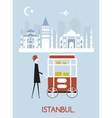 Man in Istanbul vector image