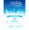 Merry Christmas party template vector image vector image