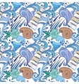 Nautical Blue Pattern vector image vector image