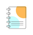 notebook icon school element for design vector image