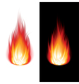object fire icon black white vector image vector image