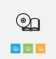 of science symbol on compact vector image vector image