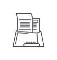 office paper line icon concept office paper vector image vector image