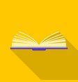 one book icon flat style vector image vector image
