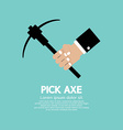 Pick Axe In Hand vector image