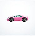 pink cartoon sport car side view vector image