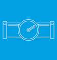 pipe with water meter icon outline style vector image vector image
