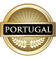 portugal gold icon vector image vector image