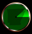 radar on arkansas vector image vector image