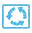 Recycle Icon Rubber Stamp vector image vector image