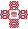 Red embroidery pattern vector image