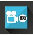 retro camera photographic record video vector image