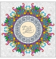round ornamental frame circle floral background vector image vector image
