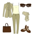 set of women clothes and accessories vector image