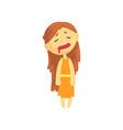 sick girl with long hair unwell teen needing vector image