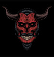 skull head devil vector image