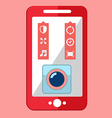 Smartphone camera app selfie icon vector image