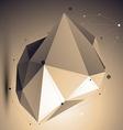 Spatial technological shape polygonal asymmetric vector image