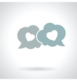 speech bubble with hearts vector image vector image