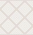 subtle white and beige seamless lattice pattern vector image