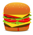 tasty hamburger vector image