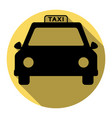 taxi sign flat black icon vector image vector image