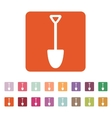 The shovel icon Spade symbol Flat vector image vector image