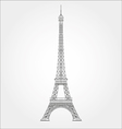 thin line eiffel tower icon vector image vector image