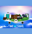 time to travel journey and hiking infographics vector image vector image