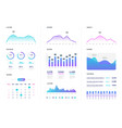 ui dashboard modern infographic with gradient vector image vector image