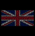 united kingdom flag collage of star pentacle icons vector image vector image