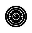 wheel black icon concept vector image vector image