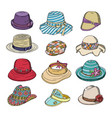 woman hat fashion clothing headgear or vector image vector image