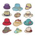 woman hat fashion clothing headgear vector image