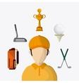 Golf design Sport icon Flat vector image