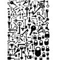 keys and padlocks vector image