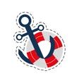 buoy anchor nautical travel maritime cut line vector image
