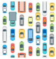 cars top view background pattern vector image