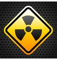Radiation warning sign vector image