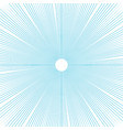 sunburst background thin blue radial lines vector image