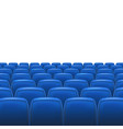 Blue seats with screen vector image