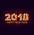 2018 happy new year background decoration vector image vector image