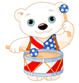4th of July Polar Bear vector image