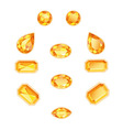 Amber Topaz Set Isolated Objects vector image vector image