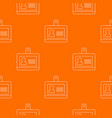 badge office pattern orange vector image vector image